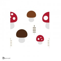 Motif automne champignons