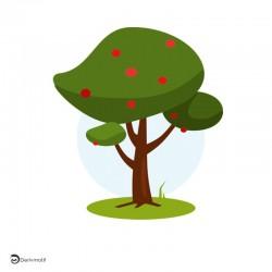 Motif arbre été