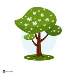 motif arbre printemps
