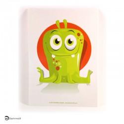 Carte postale monstre vert