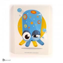 Carte postale pieuvre bleue