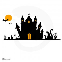 Motif Halloween manoir